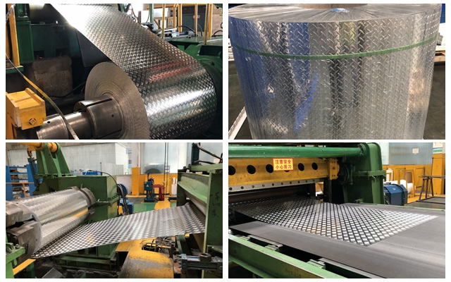 65 tons 5052 H114 aluminum plate in five bars pattern export to Korea